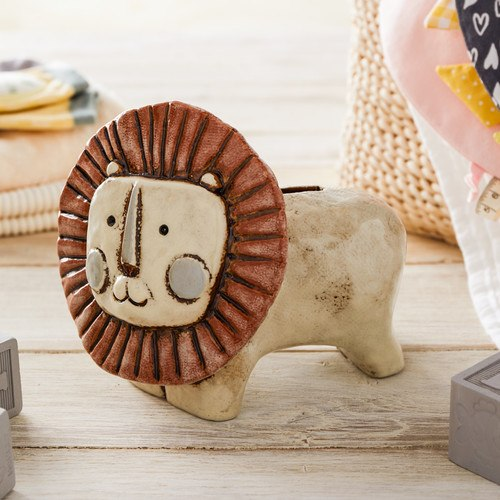 Noah's Ark Lion Piggy Bank - Grace & Grits