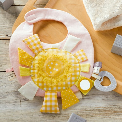 Mommy & Me Pink Activity Bib - Grace & Grits
