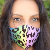 Ombre Leopard Filtered Face Covering