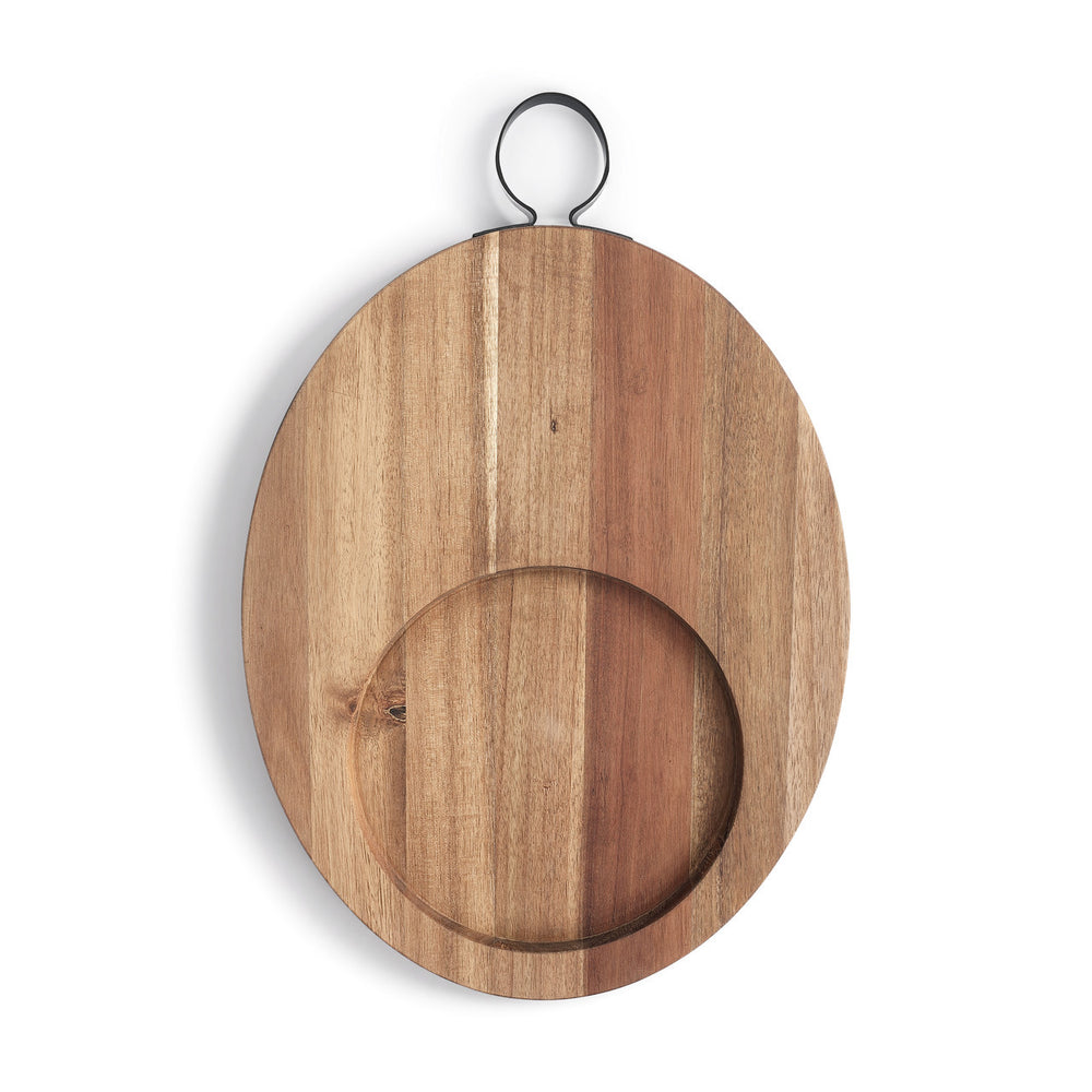 Large Acacia Wood Serving & Cutting Board - Grace & Grits