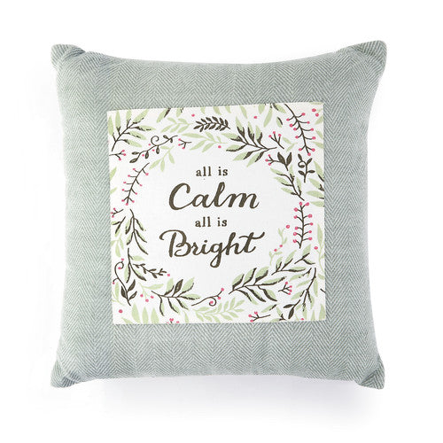 All is Calm Christmas Pillow - Grace & Grits