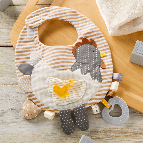 Mommy & Me Brown Activity Bib