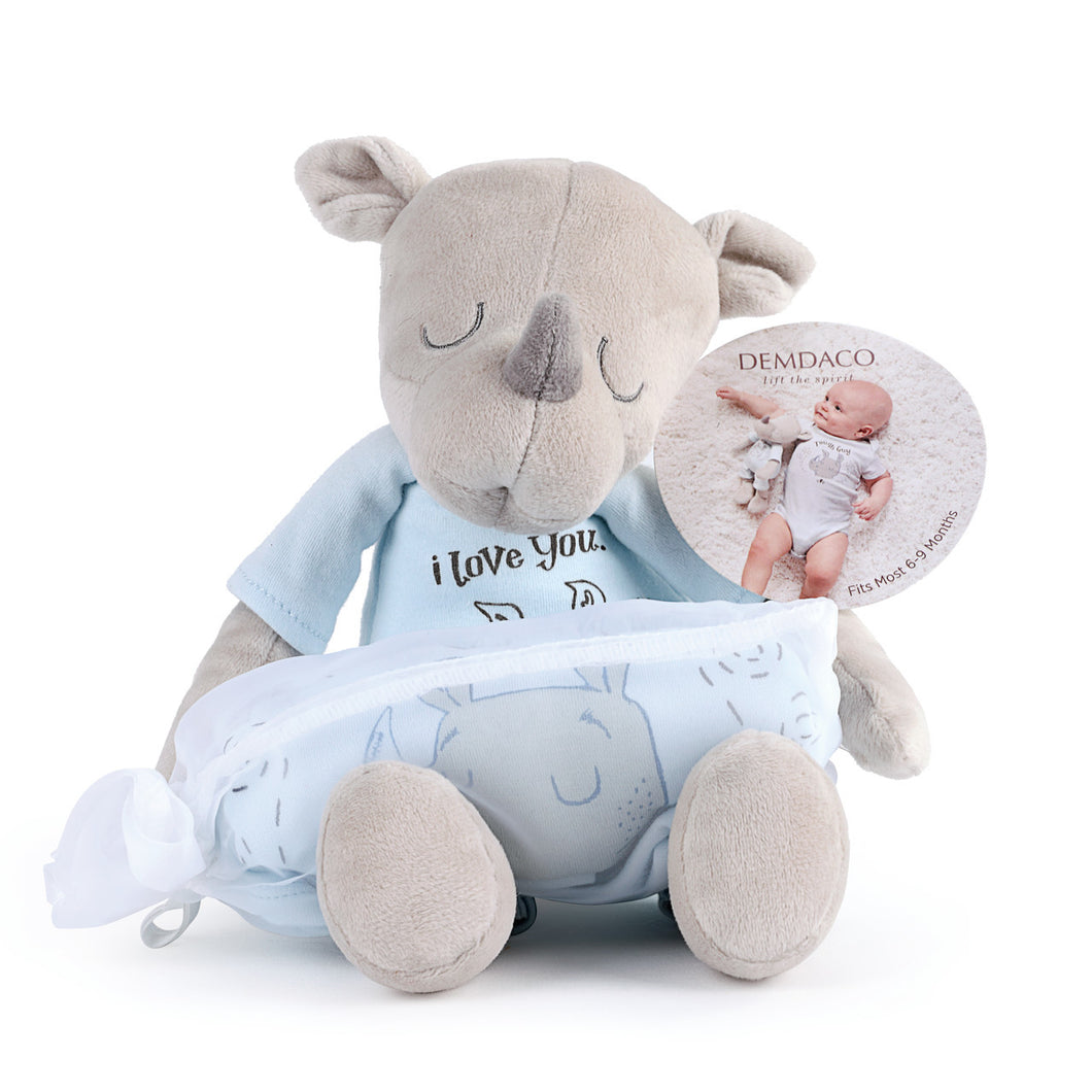 Rhino Snuggle Buddy Gift Set