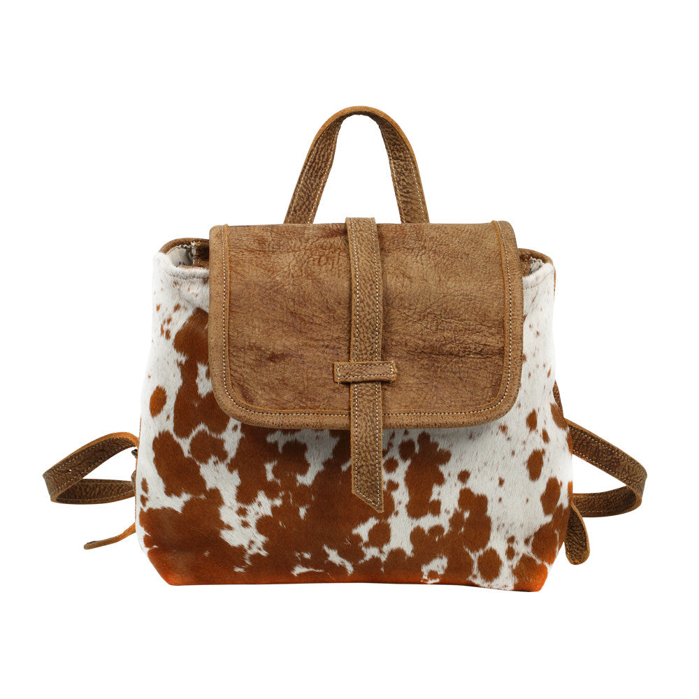 Leather/Cowhide Backpack - Grace & Grits