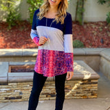 All Roads Lead to You Color Block Tunic