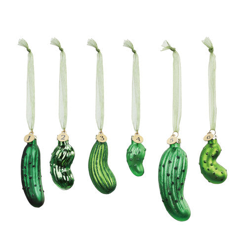 Blown Glass Christmas Pickle Game Set - Grace & Grits