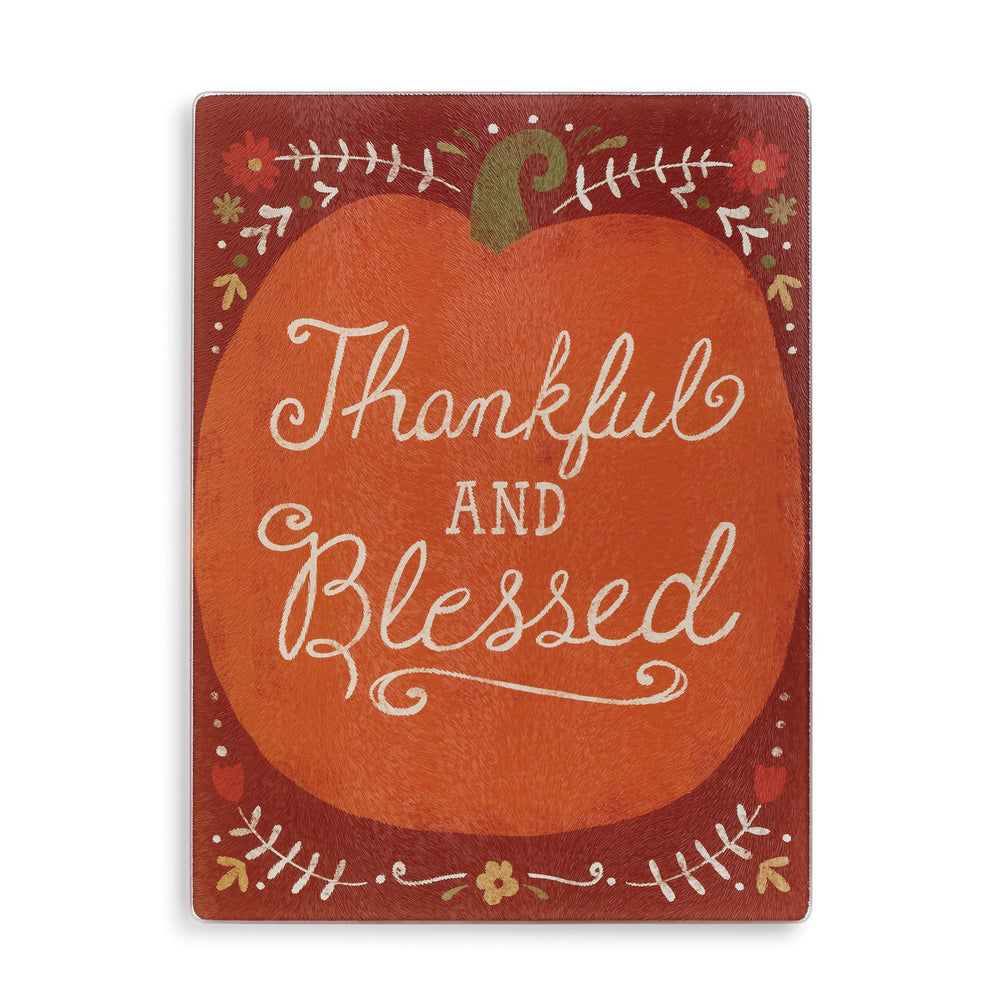 Thankful & Blessed Cutting Board Insert - Grace & Grits