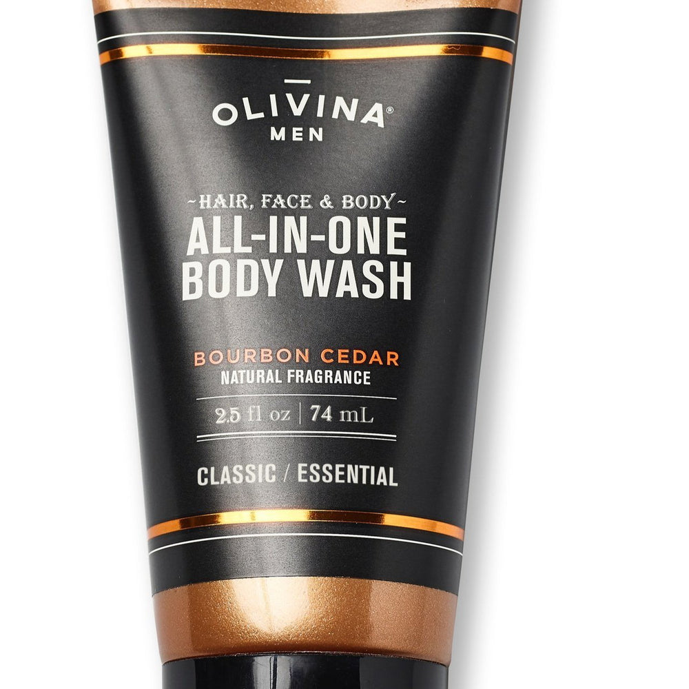 Olivina Men 6.5oz All-in-One Bourbon Cedar Exfoliating Scrub - Grace & Grits
