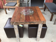 700mm cafe table wooden recycled