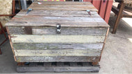 1050mm storage box on wheels wooden recycled