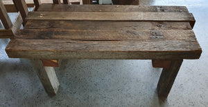 Abstract wooden bench - one off piece