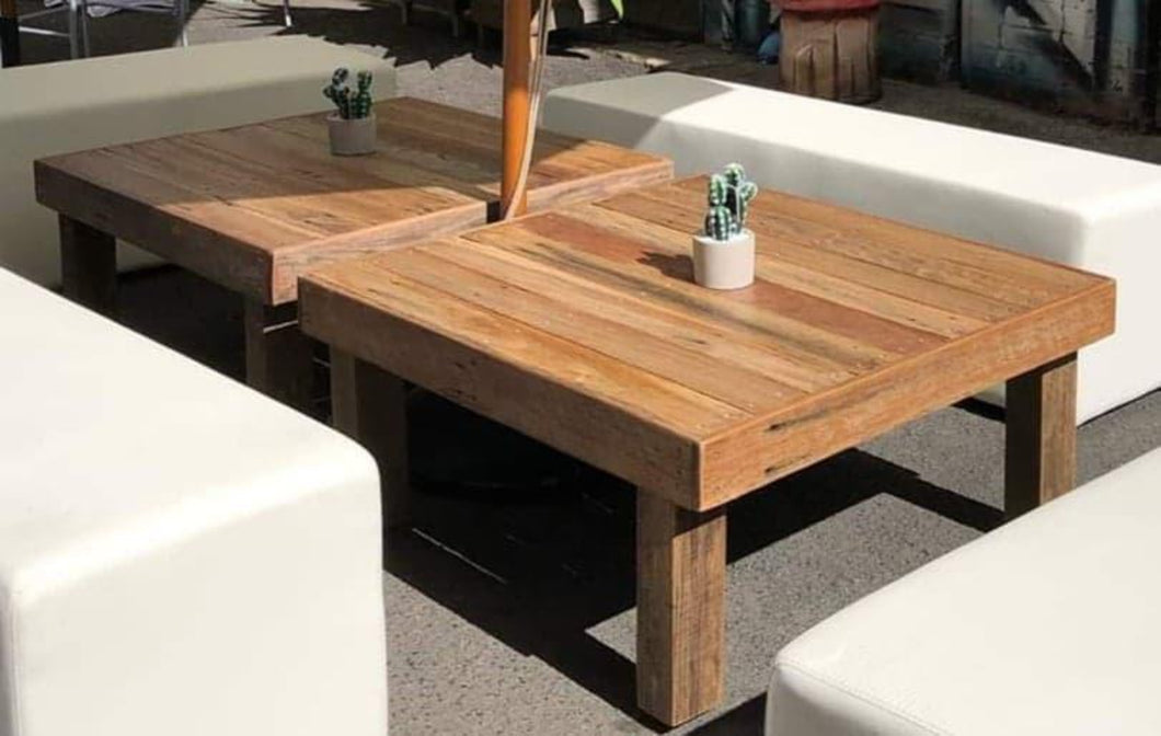 900mm coffee table wooden recycled