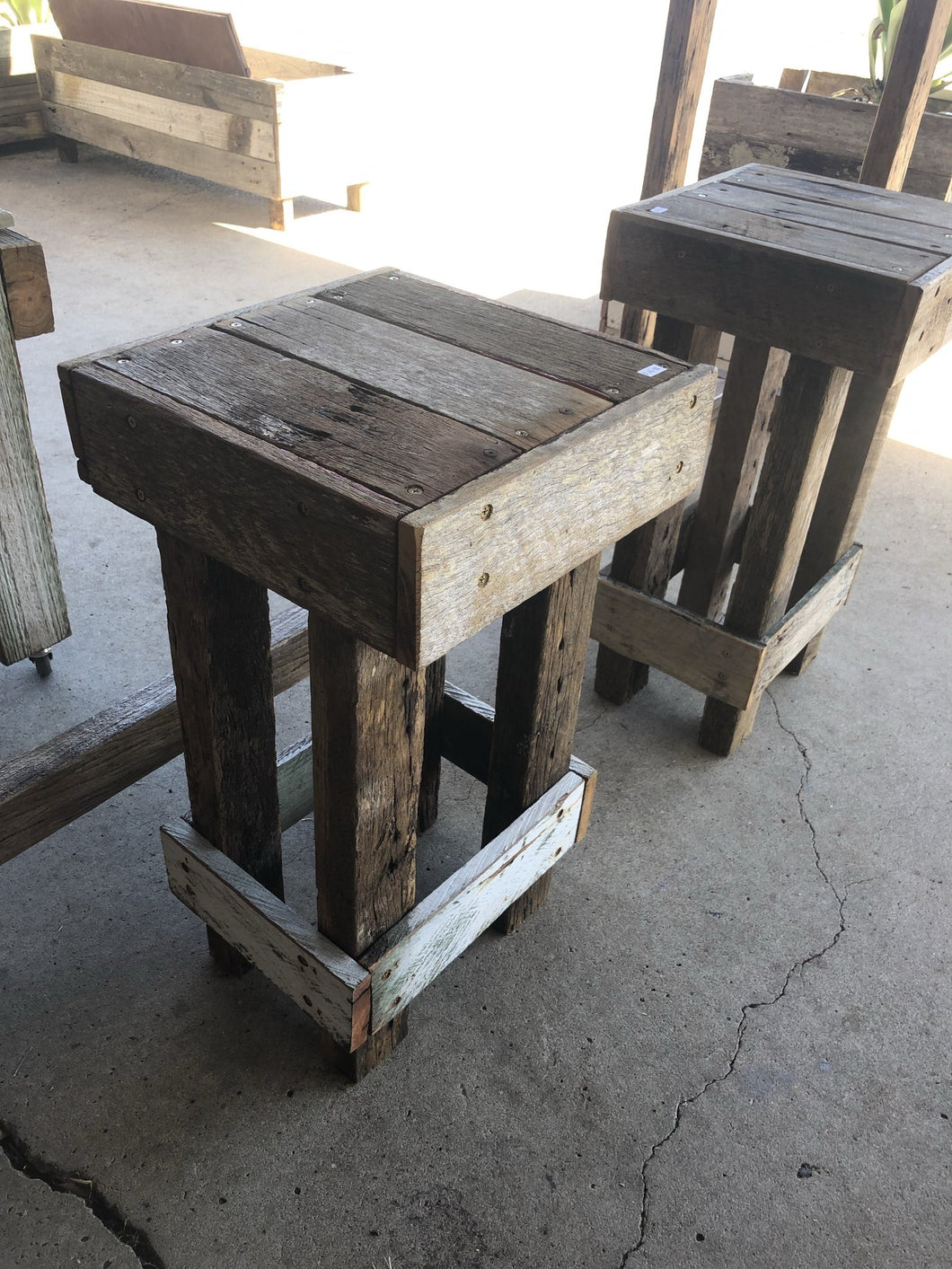 400mm bar stool standard wooden recycled