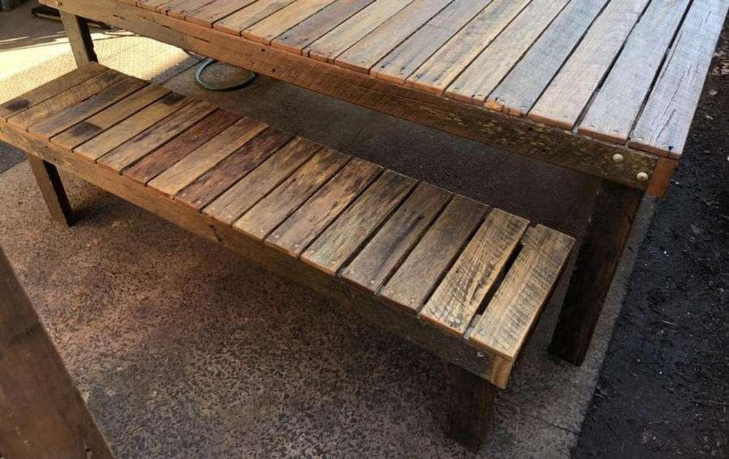 1800mm bench seat wooden recycled