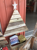 1200mm Christmas tree with planter box wooden recycled