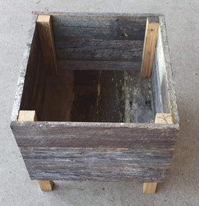 400mm Square planter wooden recycled