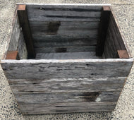 600mm square planter wooden recycled