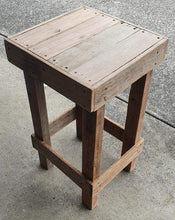 Load image into Gallery viewer, 440mm bar stool standard wooden recycled