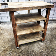 600mm drinks trolley wooden recycled
