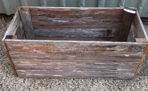 740mm rectangle planter wooden recycled