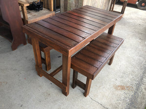 940mm bench seat 1200mm table wooden recycled