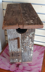 Bird box small wooden recycled