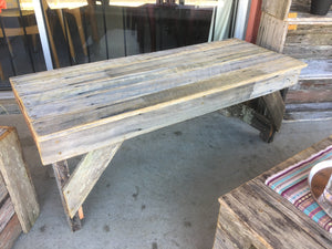 1000mm Bench seat wooden recycled