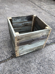 300mm square planter wooden recycled