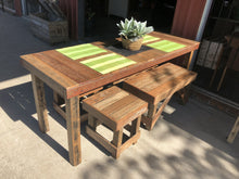Load image into Gallery viewer, 1800mm Outdoor dining table wooden recycled