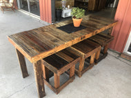 1800mm Outdoor dining table wooden recycled