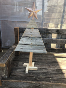 600mm Christmas tree wooden recycled