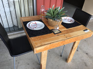 900mm cafe table wooden recycled