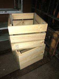400mm square storage crate wooden recycled