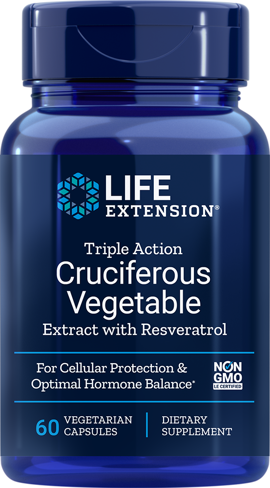 Triple Action Cruciferous Vegetable Extract with Resveratrol - 60 Capsules