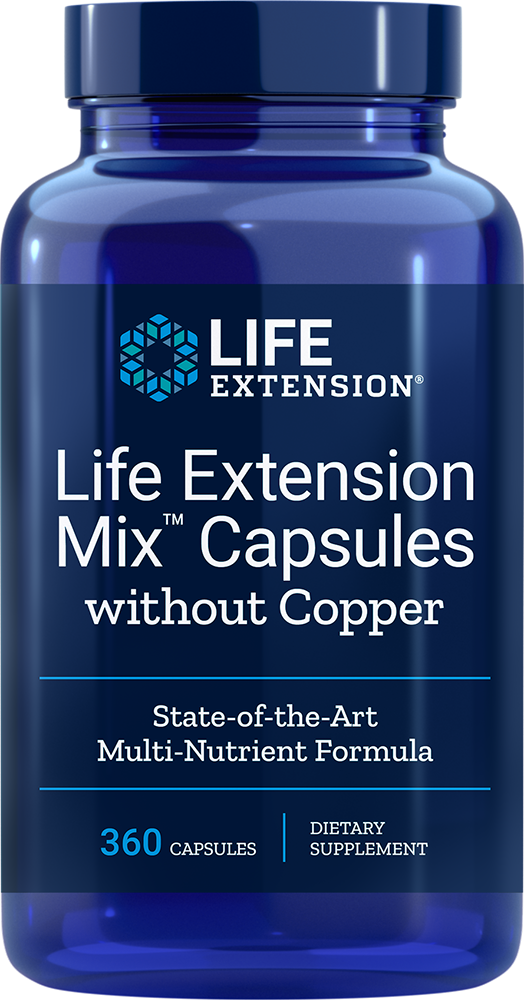 Life Extension Mix Capsules Without Copper - 360 Capsules