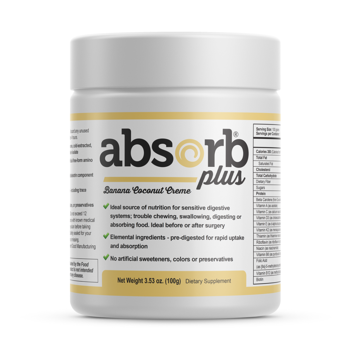 Absorb Plus (Sample Size) Banana Coconut Creme - 100g