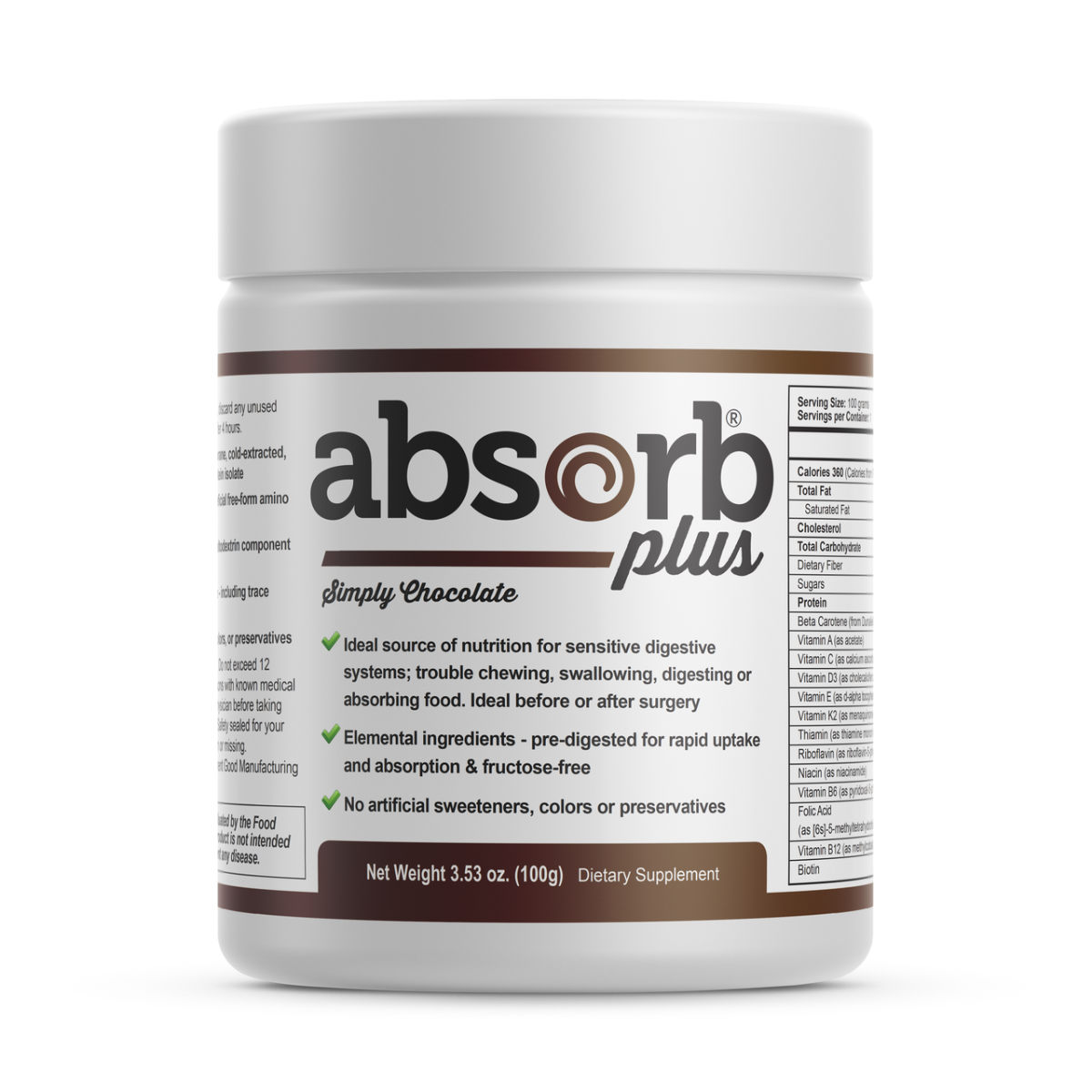 Absorb Plus (Sample Size) Simply Chocolate - 100g