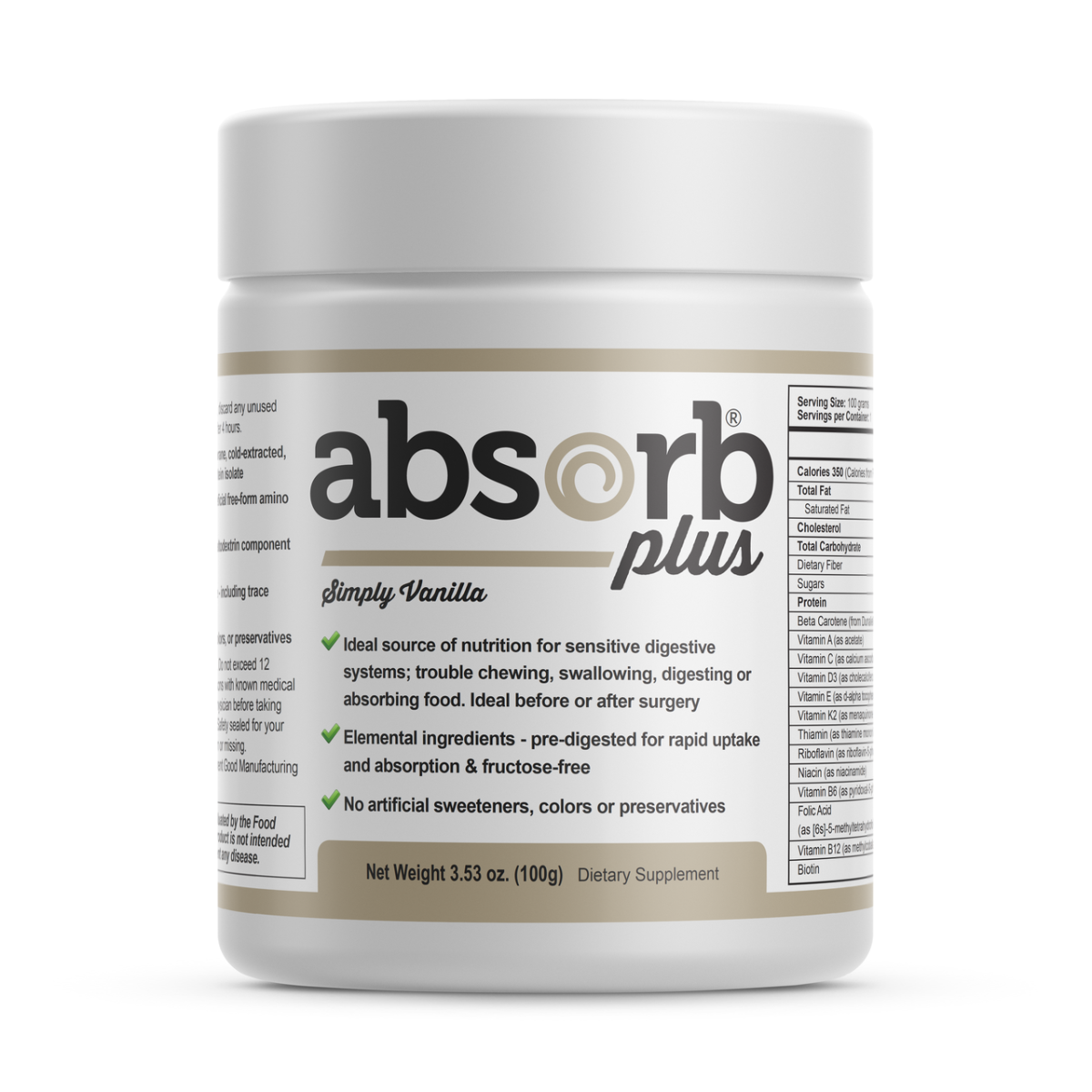 Absorb Plus (Sample Size) Simply Vanilla - 100g