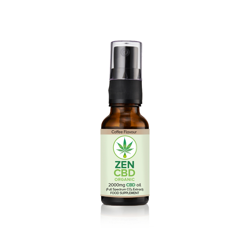 CBD Oil Spray 2000mg (Coffee Flavour) - 20ml