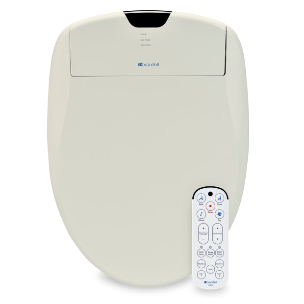 Elongated Swash 1400 Luxury Bidet Toilet Seat (Biscuit Color)