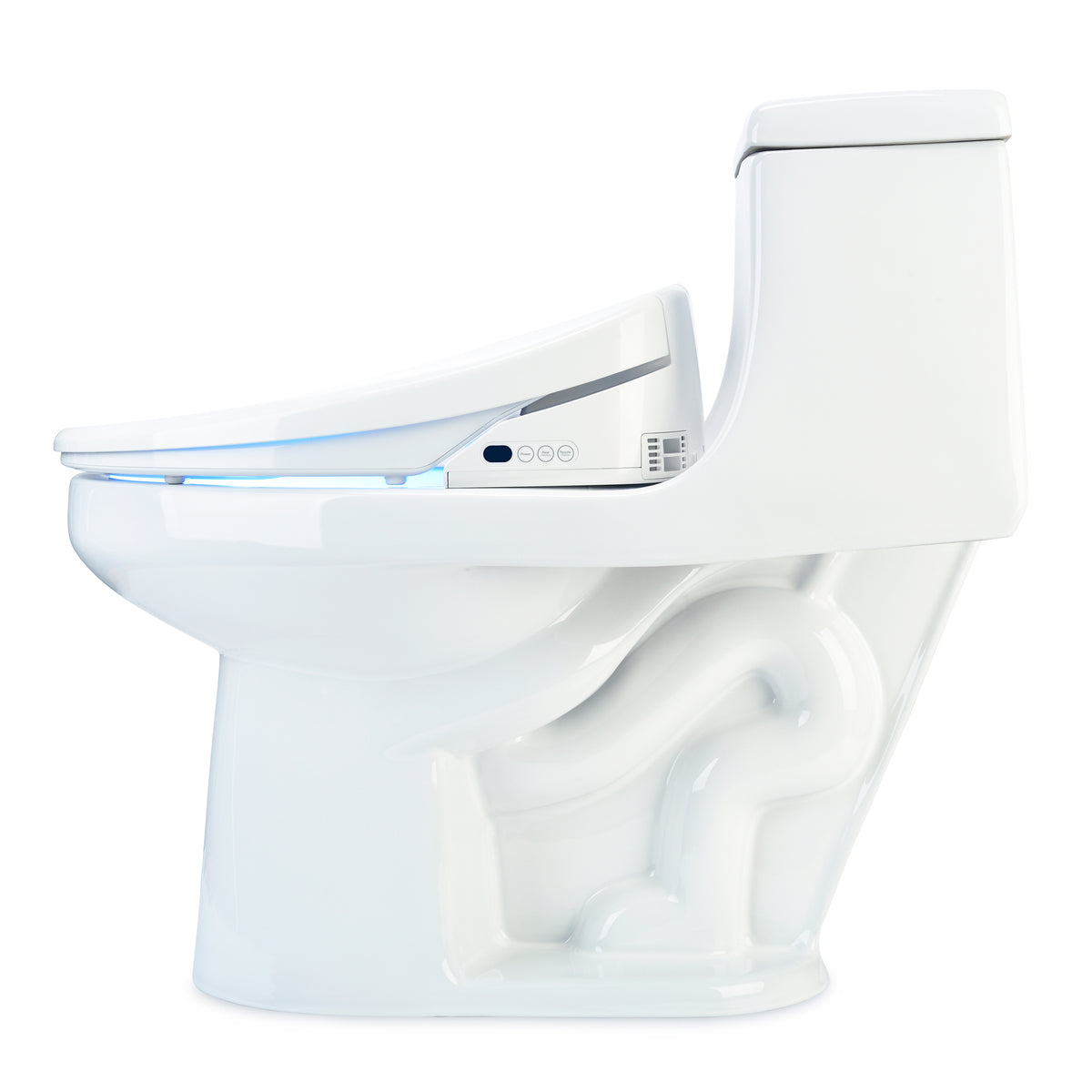 Elongated Swash 1400 Luxury Bidet Toilet Seat (White)