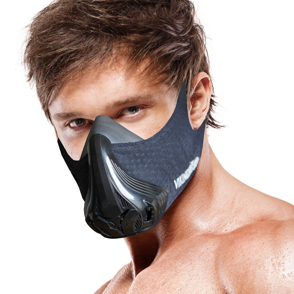 Vikingstrength 24 Levels Workout Mask VOL. 3, High Altitude Elevation Mask for Air Resistance Training with filters