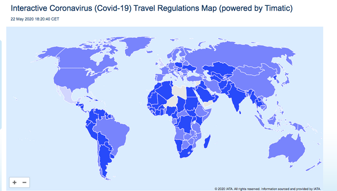 Coronavirus INTERACTIVE Travel Regulations Map