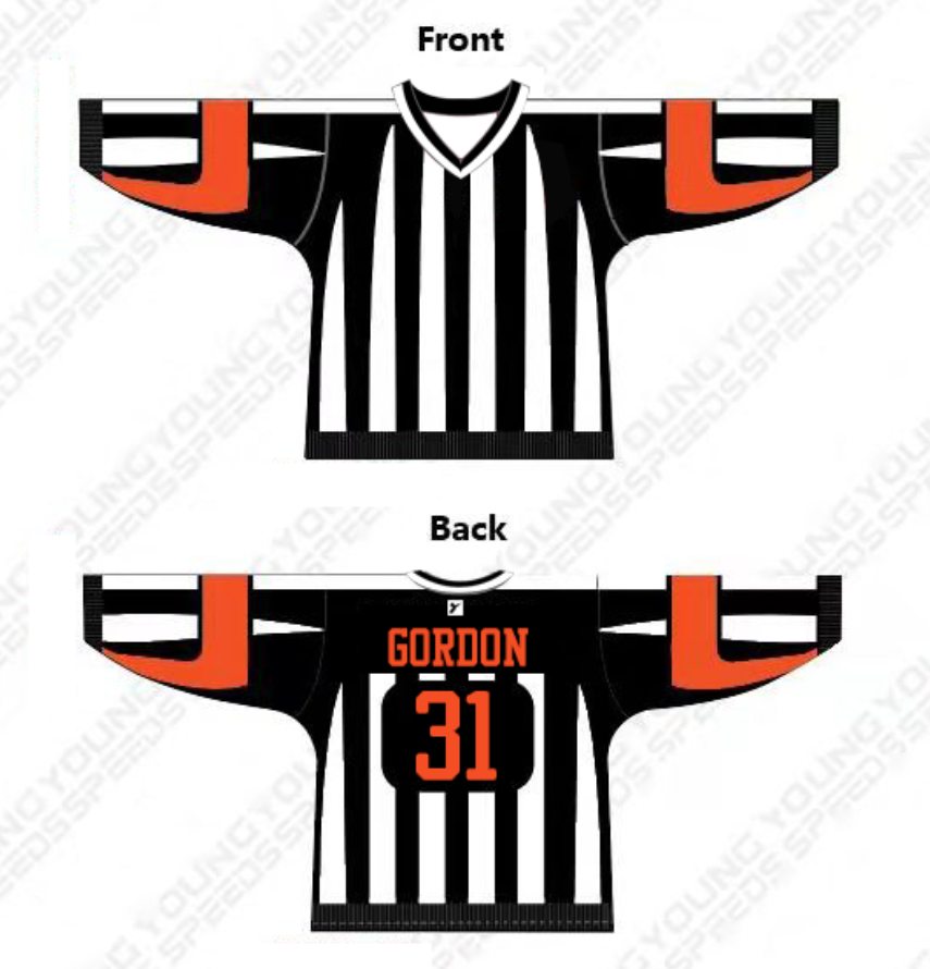 Custom Sublimated Referee Style Hockey Jersey - YoungSpeeds
