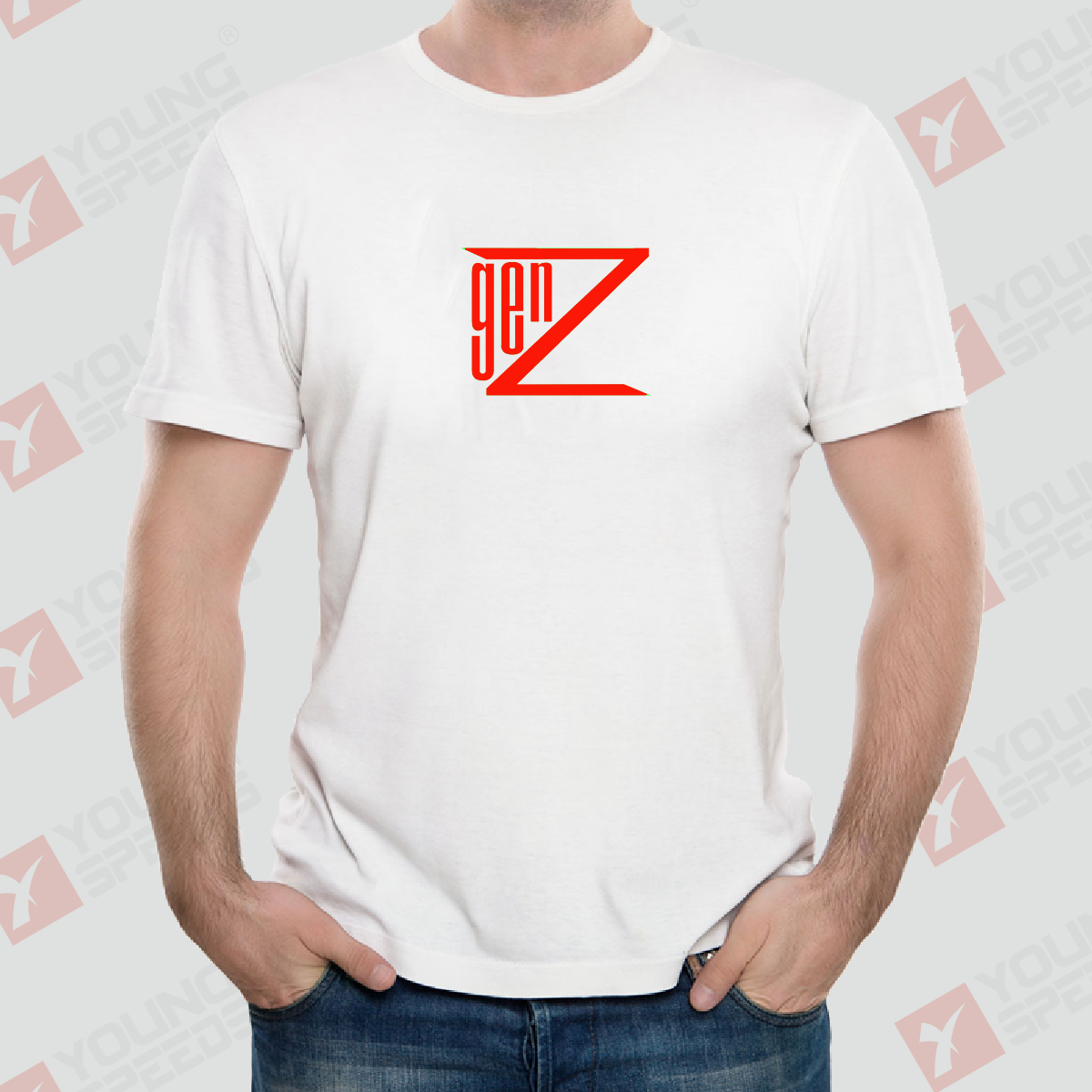 White Sublimated Generation Z T-Shirts Original Design Made in USA - YoungSpeeds