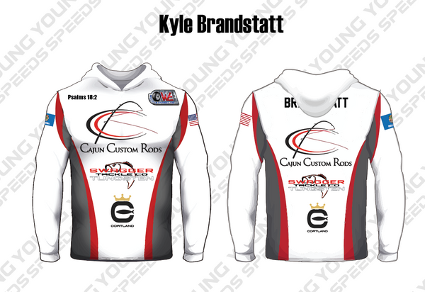 White Custom Performance Fishing Hoodies - YoungSpeeds