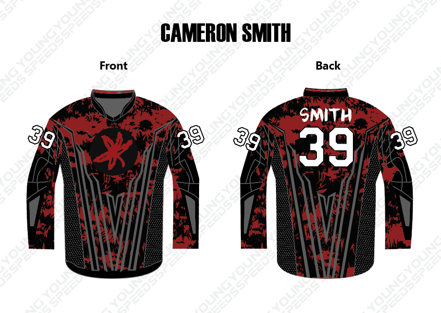 Custom Paintball Jersey -Cameron Smith - YoungSpeeds
