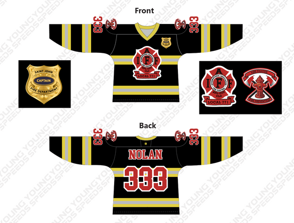 Custom Fire Fighters Hockey Jersey-Roy Nolan - YoungSpeeds