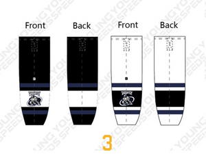 SASQUATCH Custom Sublimated Hockey Socks - YoungSpeeds
