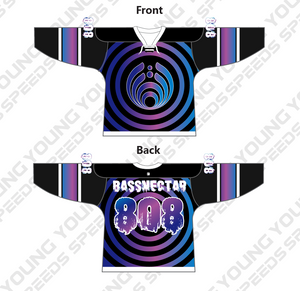 Purple Ring Sublimated Custom Bassnectar Hockey Jersey - YoungSpeeds